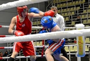 (8) Полуфинал. В ринге Дмитрий Красовский (в красной форме)