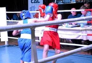 (20) Финал. На ринге Данил Жуланов (в синей форме)