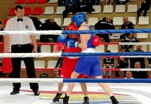 3 Момент полуфинального боя Вячеслава Горбунова (в синей форме)