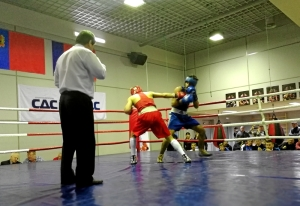 (6) Финал. Момент боя Владислава Трофимова (в синей форме)