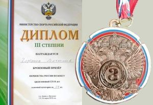 (3) Диплом и медаль