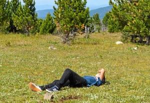 9 На вершине горы Тияхта (9). Утомился
