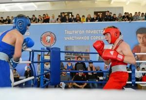 (14) Полуфинал. Момент боя Антона Гобова (в красной форме)