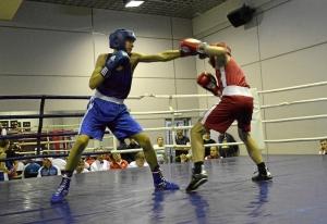 (4) Полуфинал. Момент боя Артема Алексеенко (в синей форме)