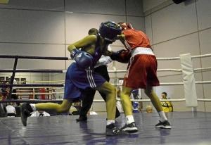 (5) Полуфинал. Момент боя Андрея Демшина (в синей форме)