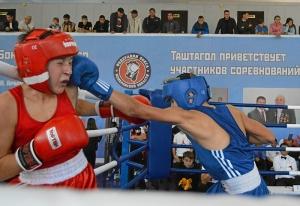 (6) Полуфинал. Момент боя Андрея Демшина (в синей форме)