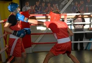 (34) Момент боя Артема Алексеенко (в красном шлеме) против Данила Радченко