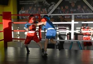 (5) Момент боя Зелима Близнюка (в красной форме) против Егора Шелкова