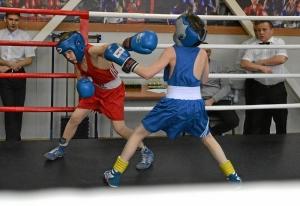 (16) Момент боя Андрея Рыбникова (в красной форме) против Марата Зинатуллина