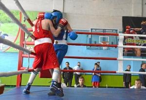 (12) На ринге Егор Пономарев (в красной форме)