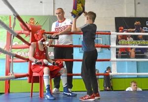 (13) На ринге Егор Пономарев (в красной форме)
