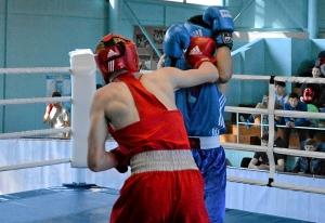 16 На ринге Вячеслав Горбунов (в красной форме)