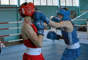 23 Полуфинал. На ринге Вячеслав Горбунов (в синей форме) (1)