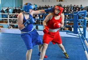 38 Финал. На ринге Александр Шульц (в синей форме)
