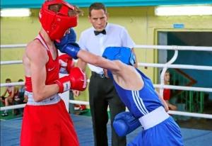 (11) Финал. На ринге Андрей Демшин (в синей форме)