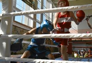(3) Момент боя Андрея Рыбникова (в синей форме)