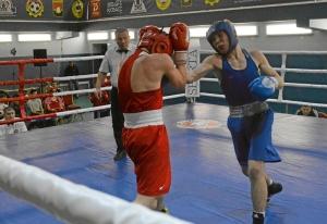 1 (4) На ринге Антон Гобов (в синей форме)