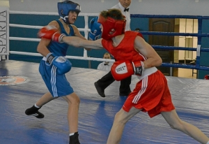 1 (6) Полуфинал. Андрей Демшин (в синей форме)