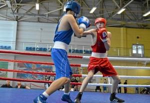 (2) На ринге Егор Пономарев (в красной форме)