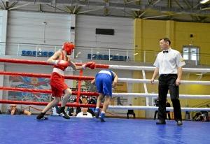 (3) На ринге Егор Пономарев (в красной форме)