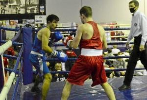 (7) Полуфинал. В ринге Владислав Трофимов (в синей форме)